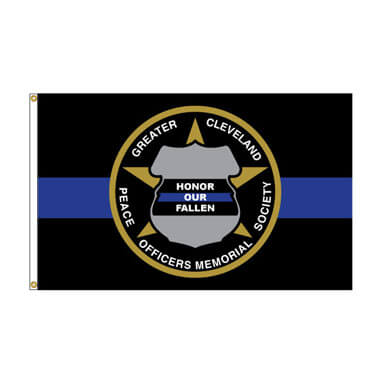 Greater Cleveland Peace Officers Memorial Society - Large Flag