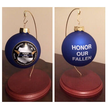 Honor Our Fallen GCPOMS Christmas Ornament