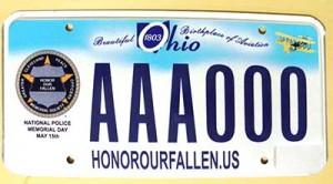 HOF License Plate