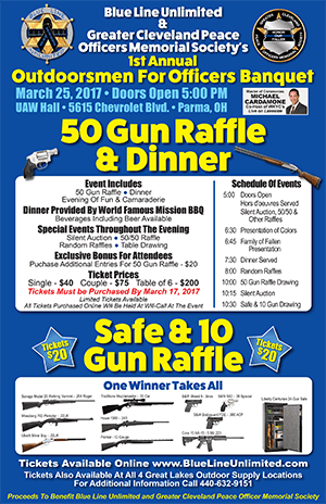 Outdoorsmen for Officers Banquet - March 25 2017