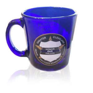 Police Memorial Society Blue Glass Mug
