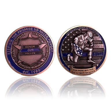 Police Memorial Society Challenge Coin