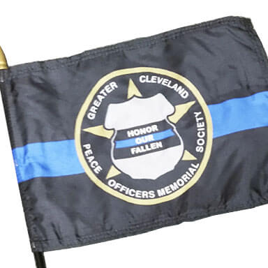 Police Memorial Society Thin Blue Line Flag