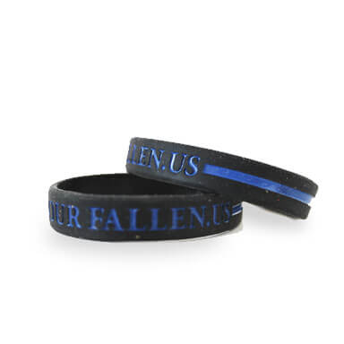 Police Memorial Society Thin Blue Line Wristband