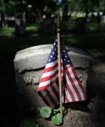 Flag at Woodland Cemetery