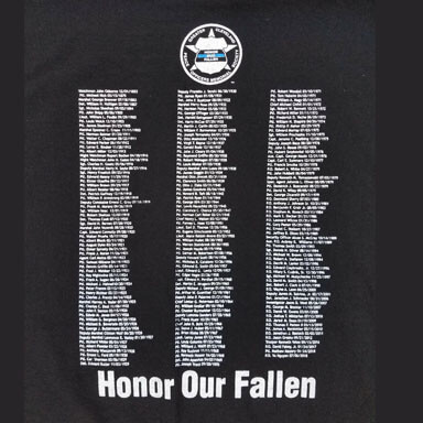honor our fallen t-shirt design - back