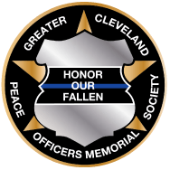 Greater Cleveland Peace Officers Memorial Society Badge - Honor Our Fallen